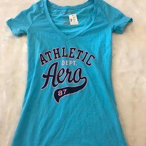 Aeropostale Athletic v -neck Tee shirt